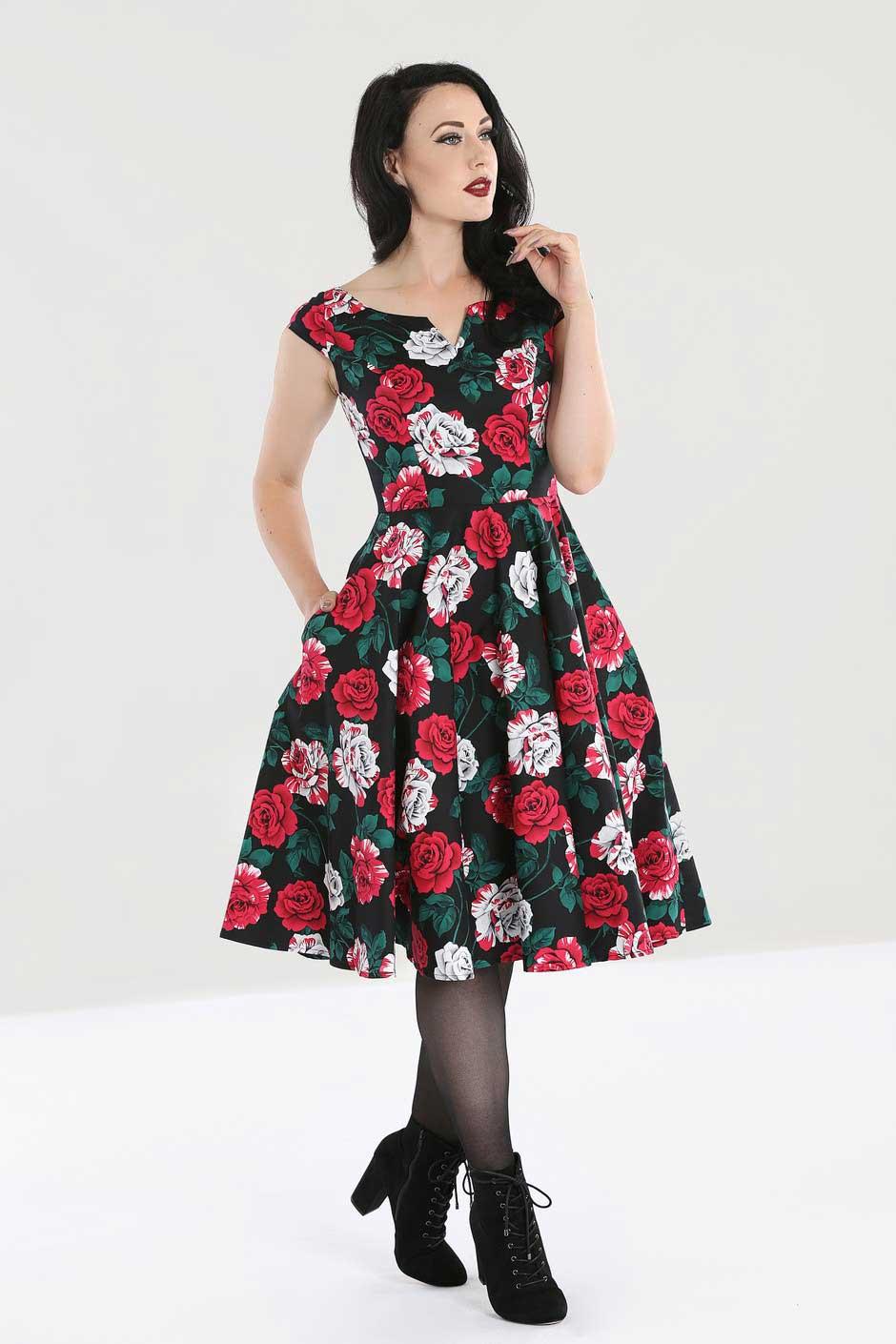 Hell Bunny | 50's jurk Ruby met rozen