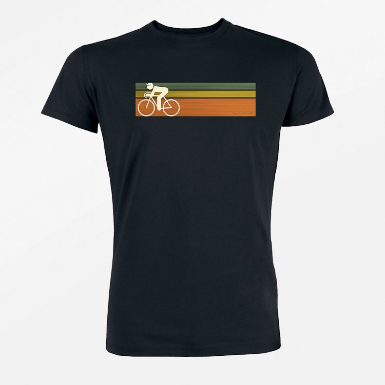 T-shirt Bike Speed, zwart