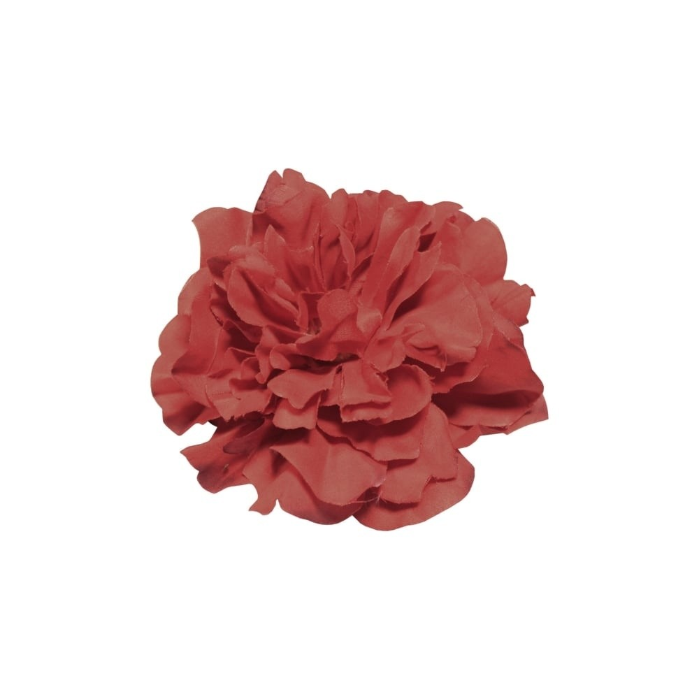 Haarclip, rode pioen roos