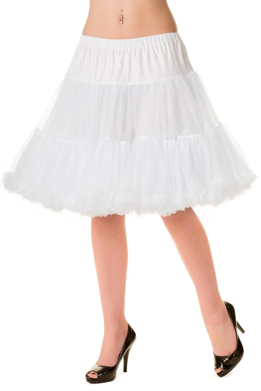 Petticoat Walkabout Knielang met extra volume wit