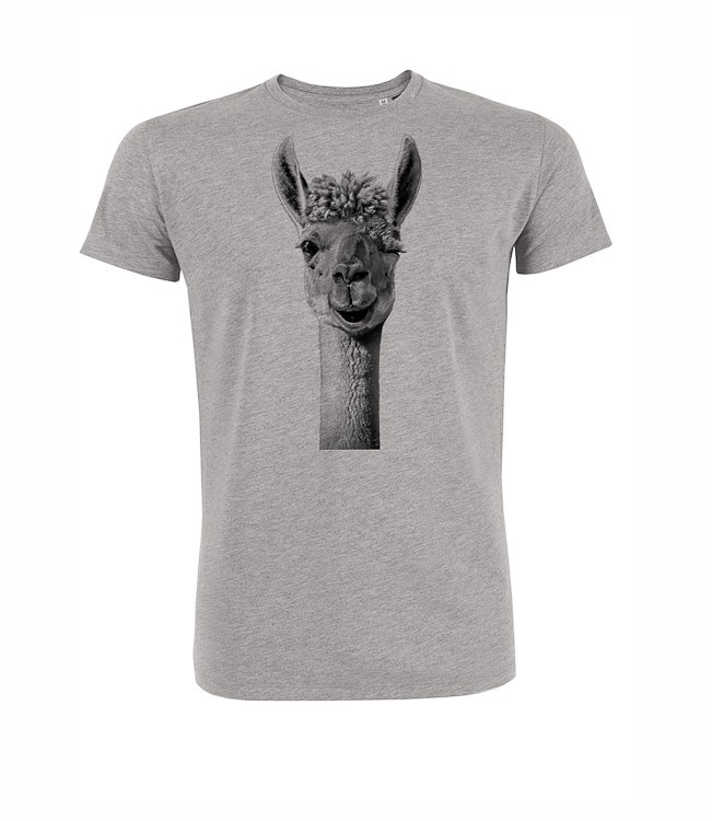 T-shirt Lama, grijs