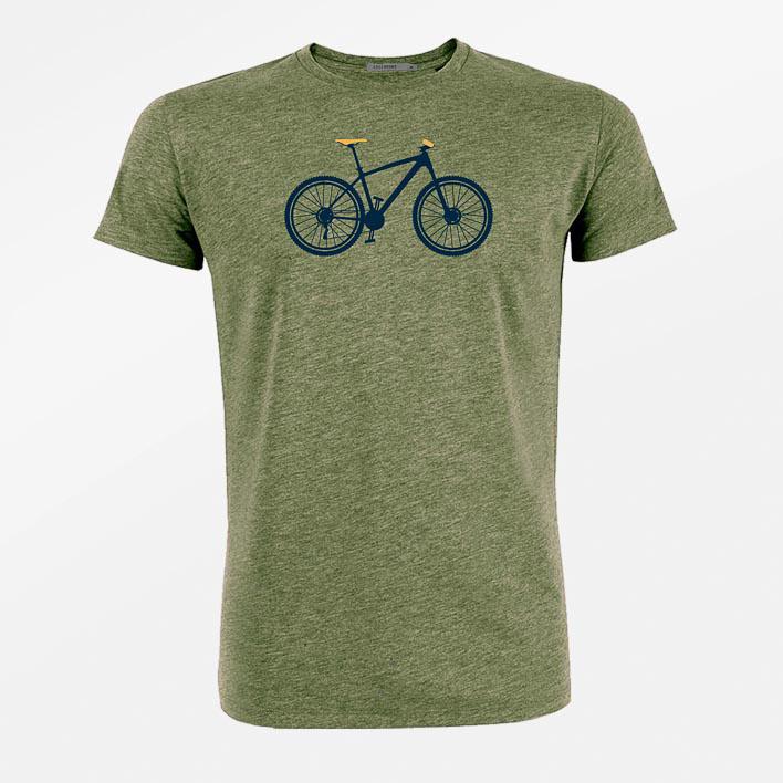 Green Bomb   T-shirt kaki Mountain Bike bio katoen