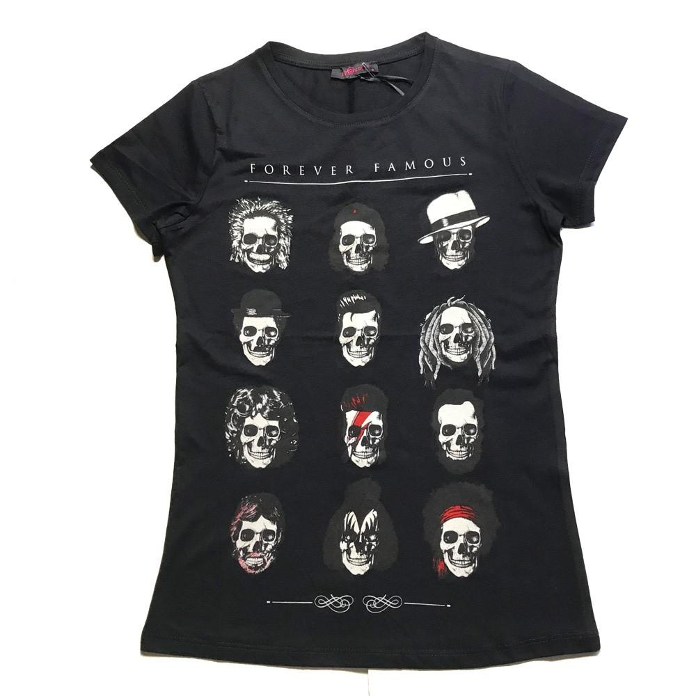 T-shirt Forever famous, zwart