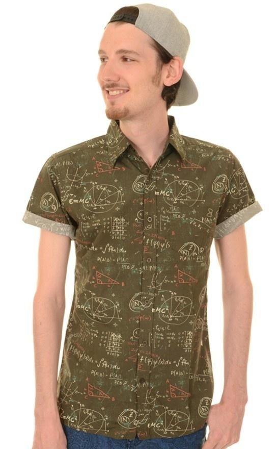 Overhemd korte mouw Maths geek formulas chalkboard
