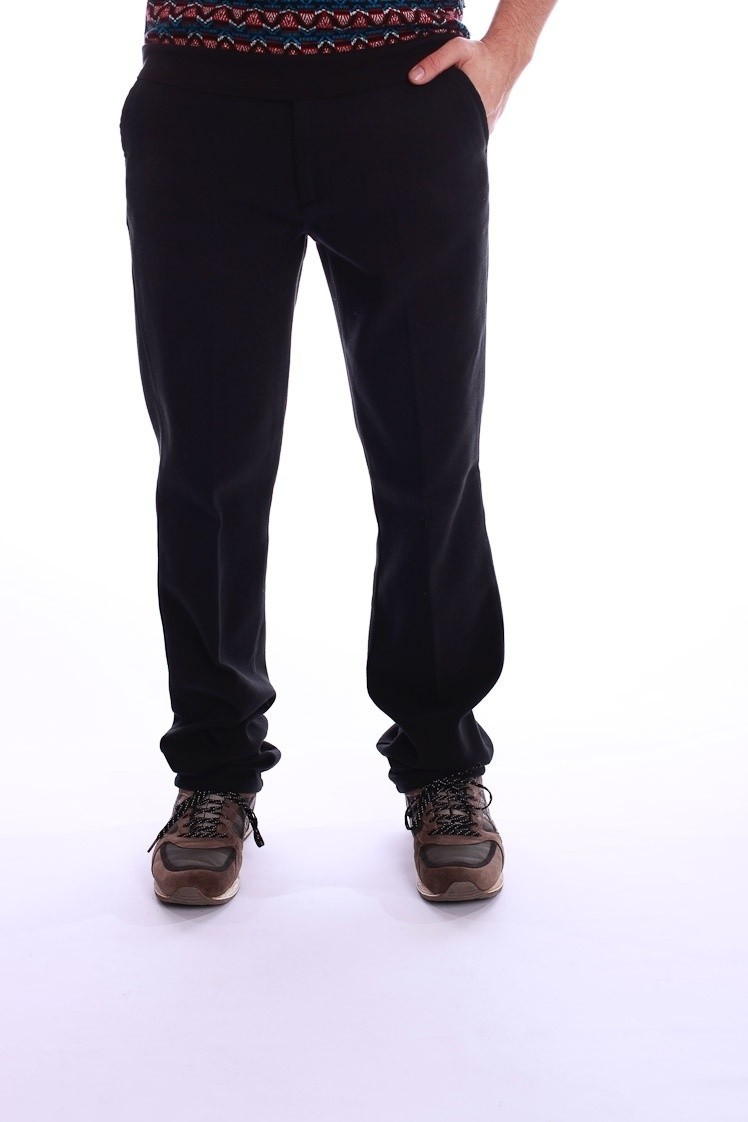Pantalon Jorjo, zwart, zachte katoen