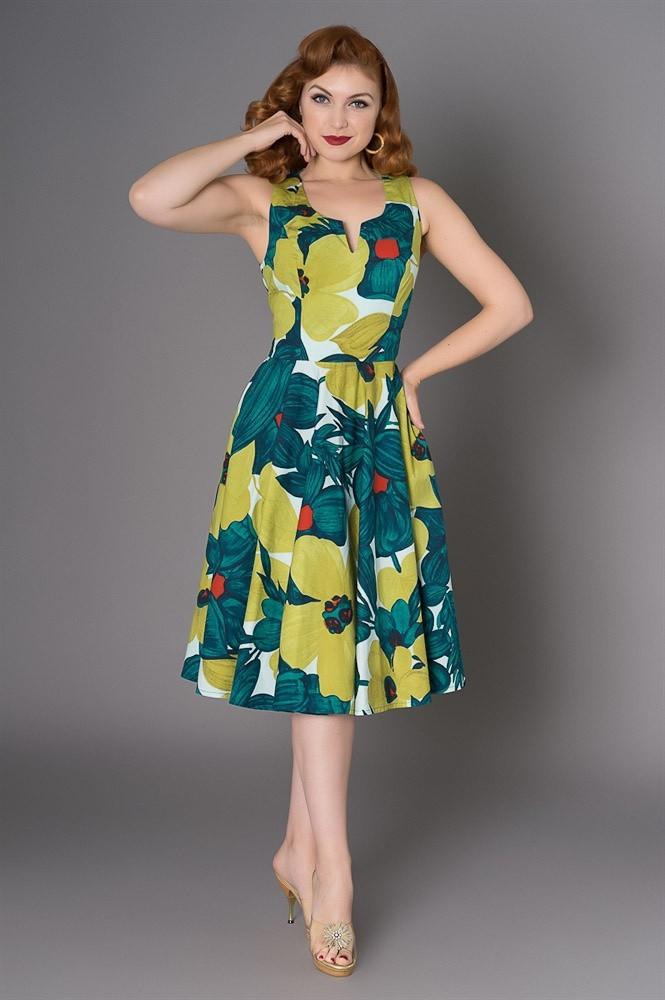 Jurk Danni, floral swing model