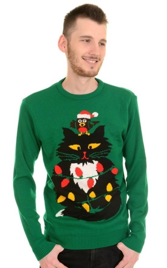 Jumper, kerstmis miauw super kitsch