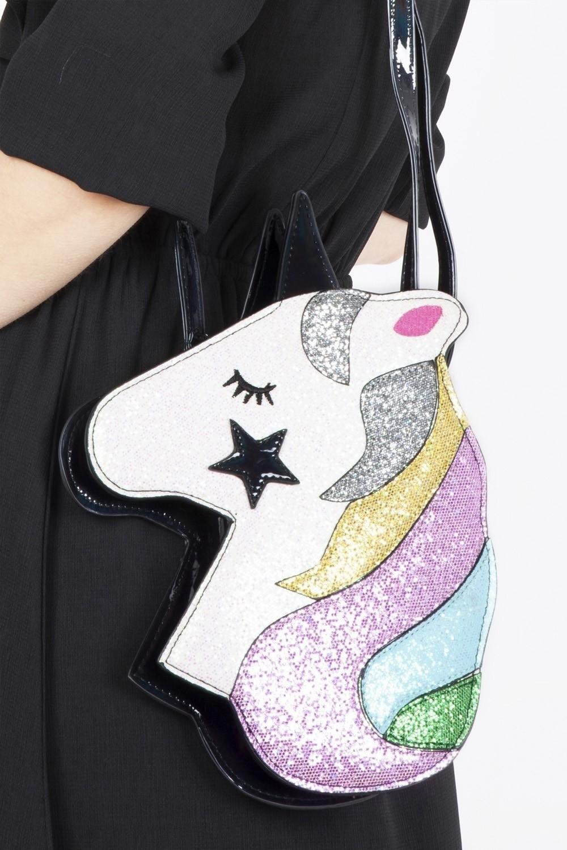 Schoudertas, Unicorn dreams met glitters