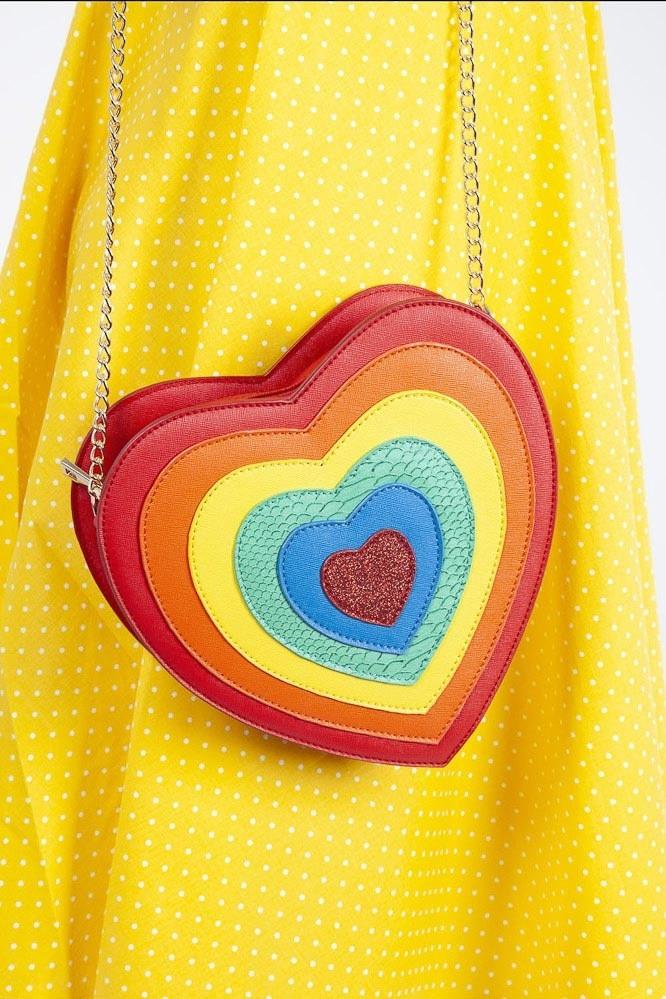 Handtas Heart Cross, regenboog