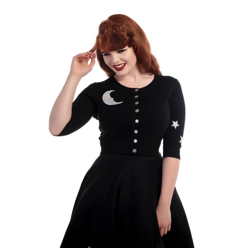 Cardigan Lucy moon and stars, zwart