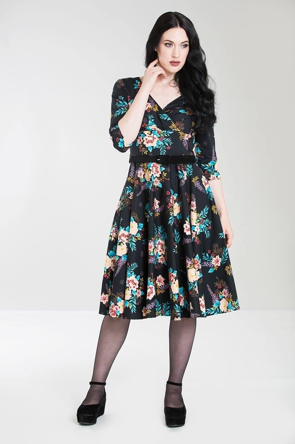 zwarte driekwart jurk