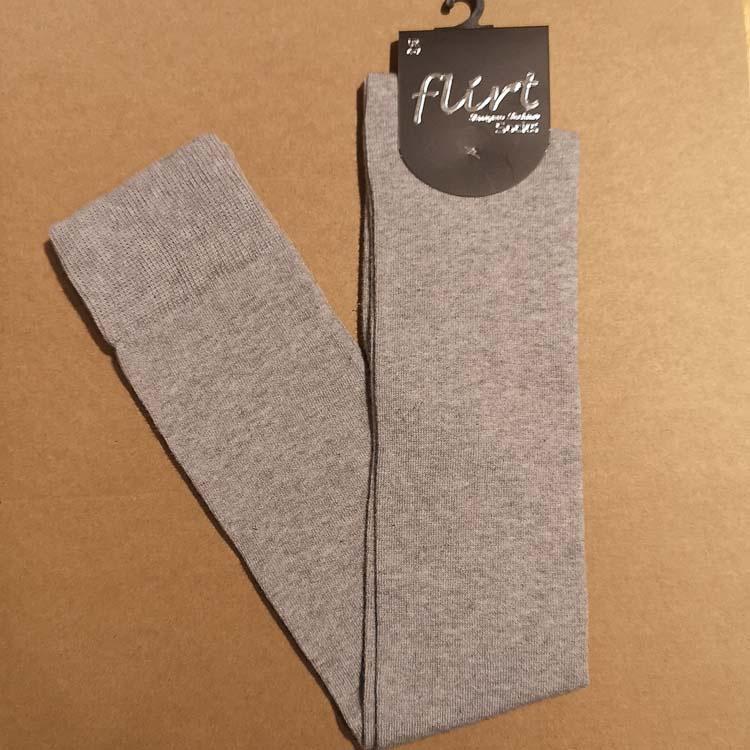 Flirt | Overknee sokken lichtgrijs