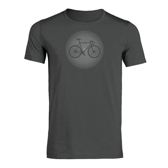 T-shirt Bike circle, bio katoen anthracite