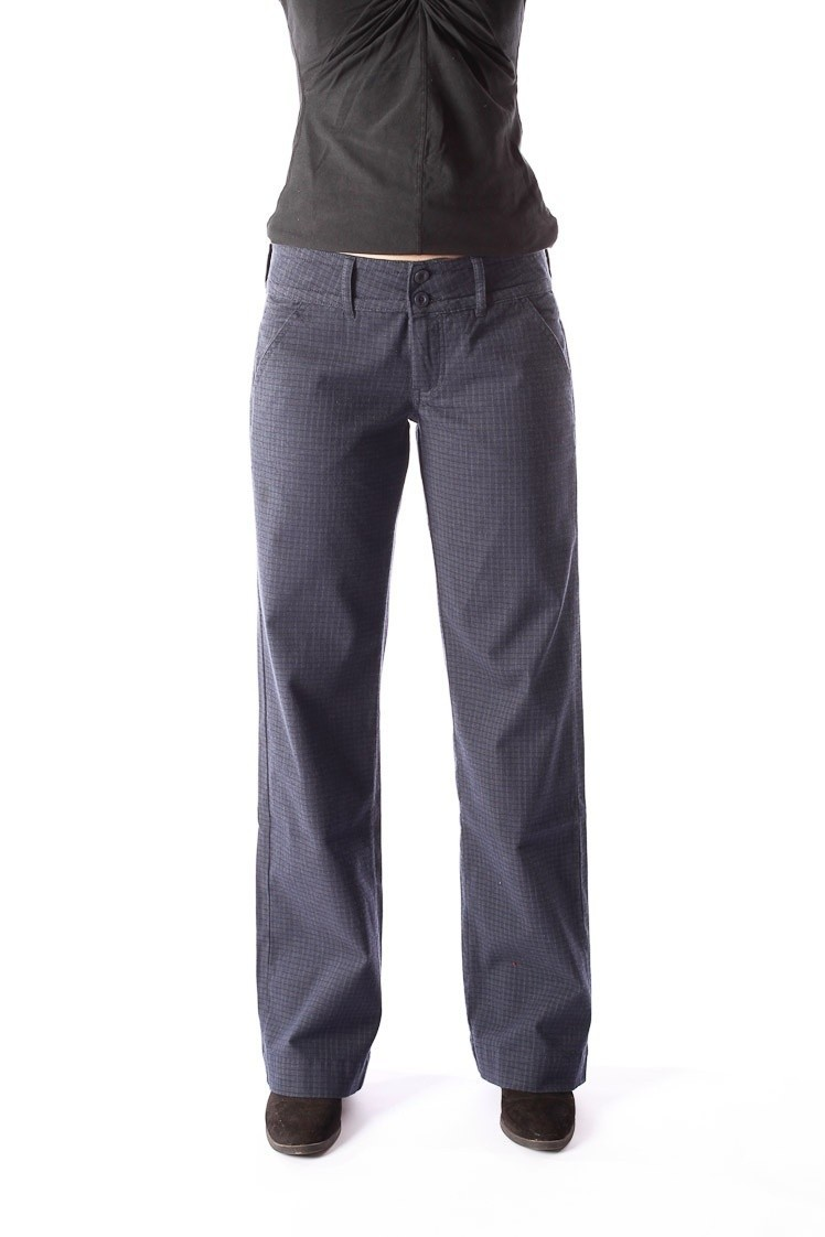 Pantalon Lilia, blauw grijs ruitje, Ato-Berlin
