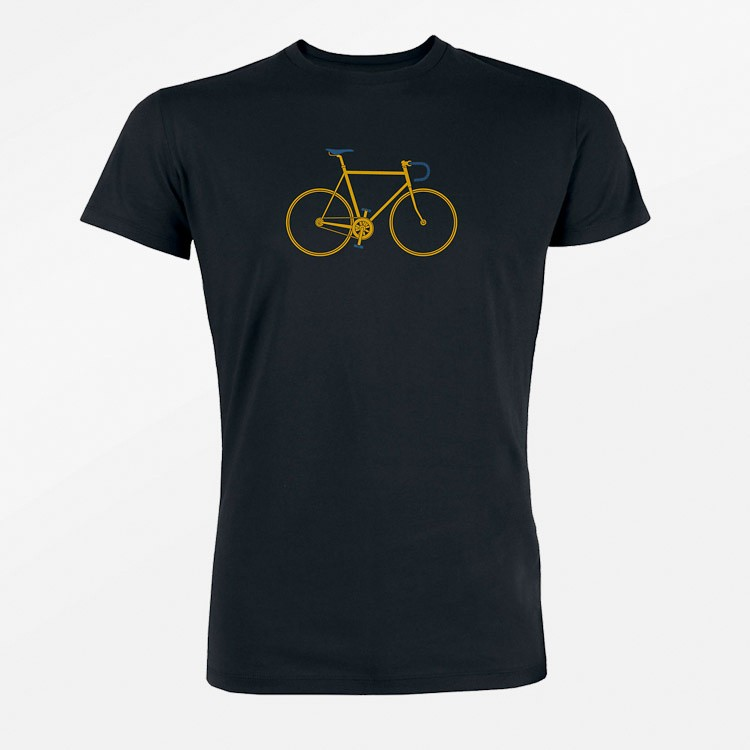 T-shirt Bike Trip, zwart