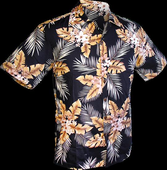 Overhemd korte mouw, Fern navy ovaltine