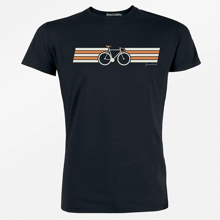 Green Bomb - T-shirt Bike Wings, bio katoen, zwart