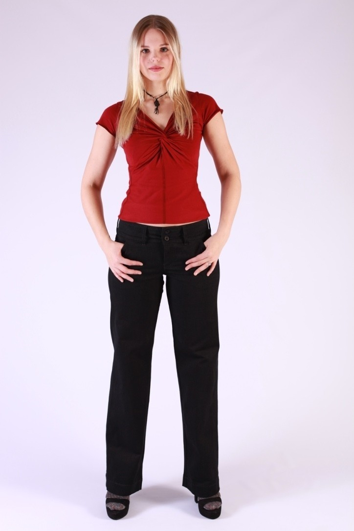 Pantalon Lilia, zwart grijs flanel, Ato-Berlin