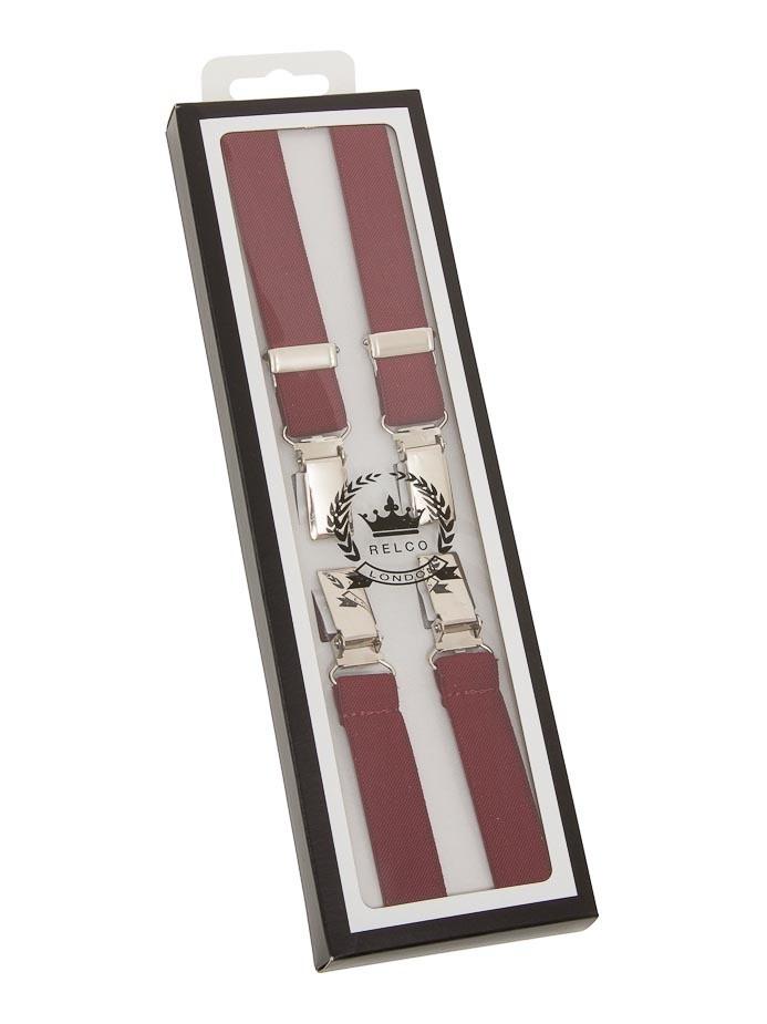 Bretels burgundy, breedte: 1.3 cm
