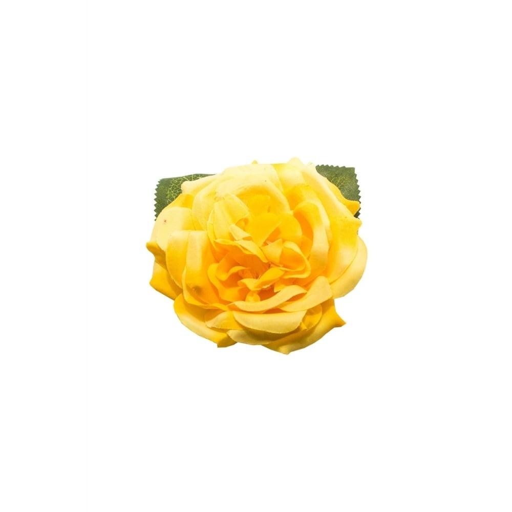 Haar clip Garden rose geel