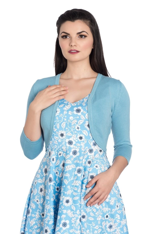 Bolero Maggie, blauw met drie-kwart mouw