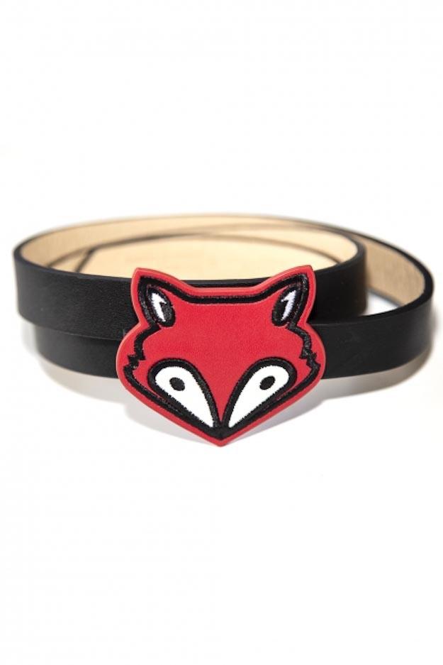 Riem Foxy, zwart met rode vos