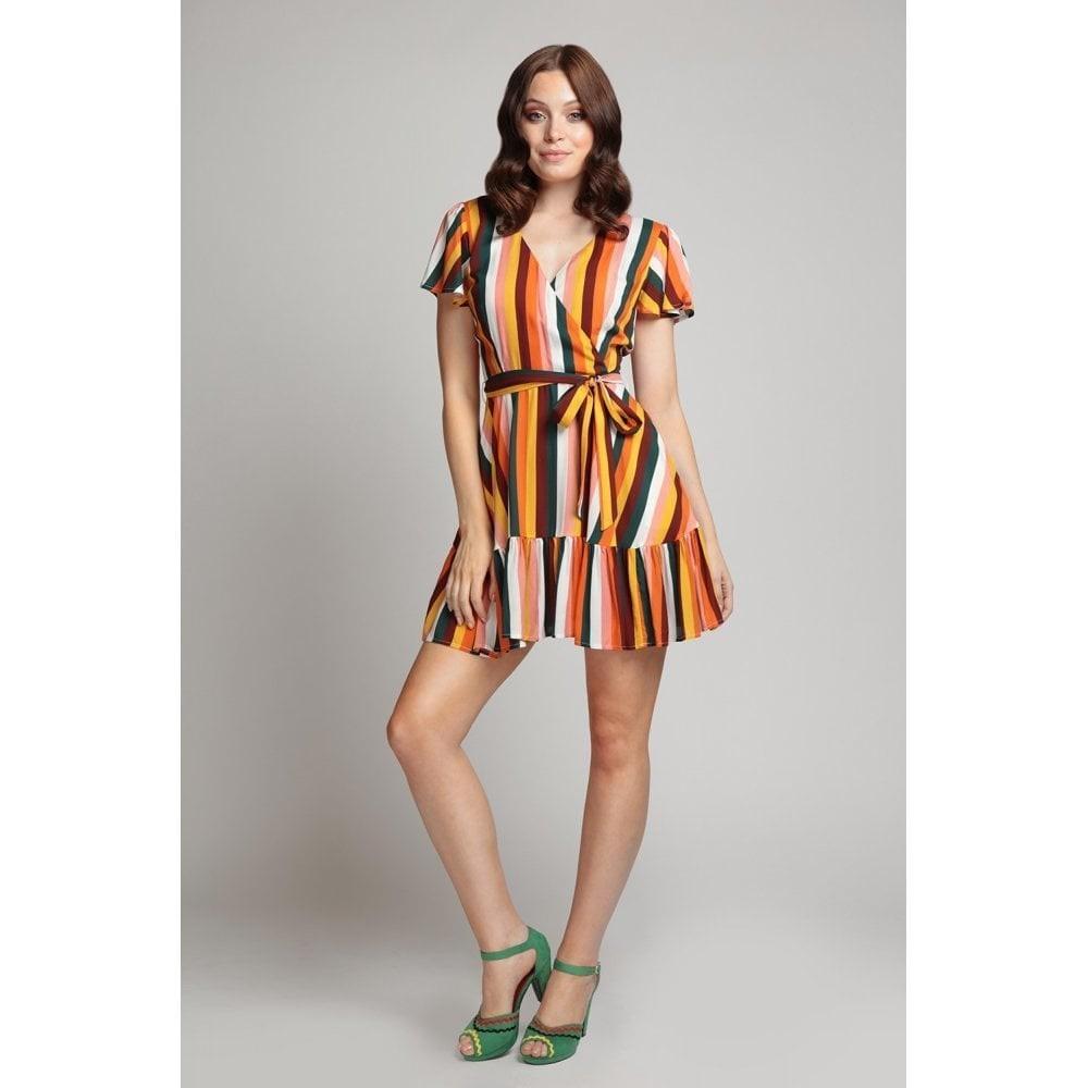 Jurk Molly Tropical Stripe, kleurrijk gestreept