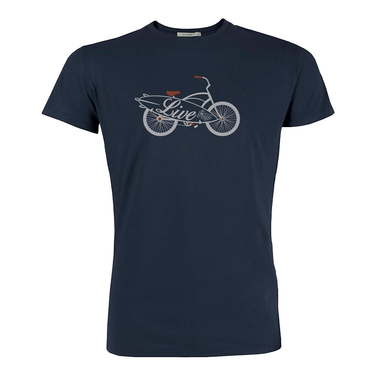 T-shirt bike live bio katoen navy