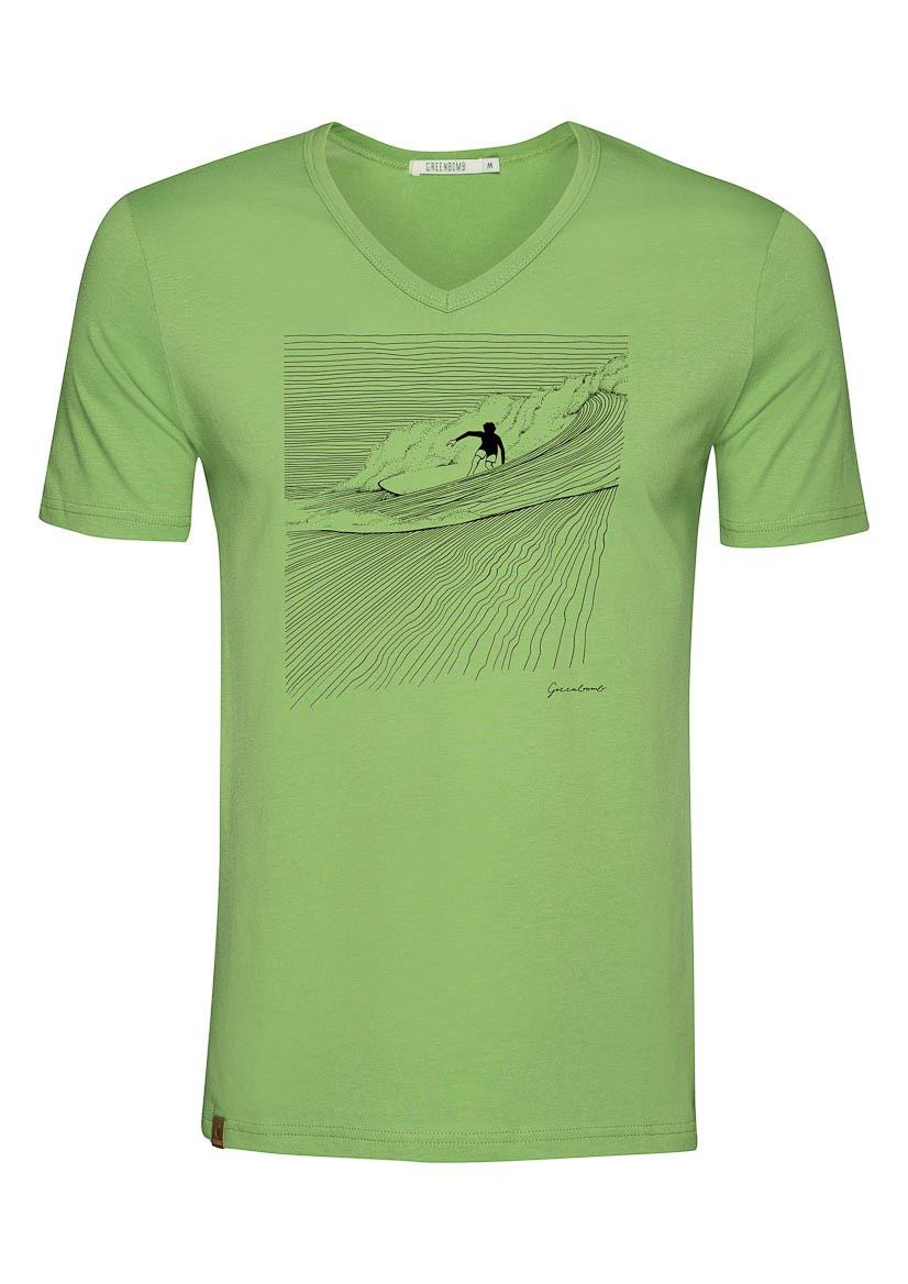Green Bomb   T-shirt Nature Surfer, pale green bio katoen