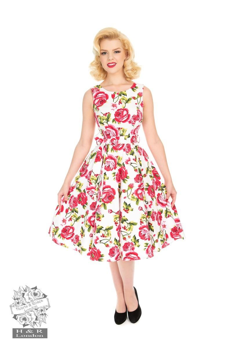 Jurk Sweet Rose, swing model