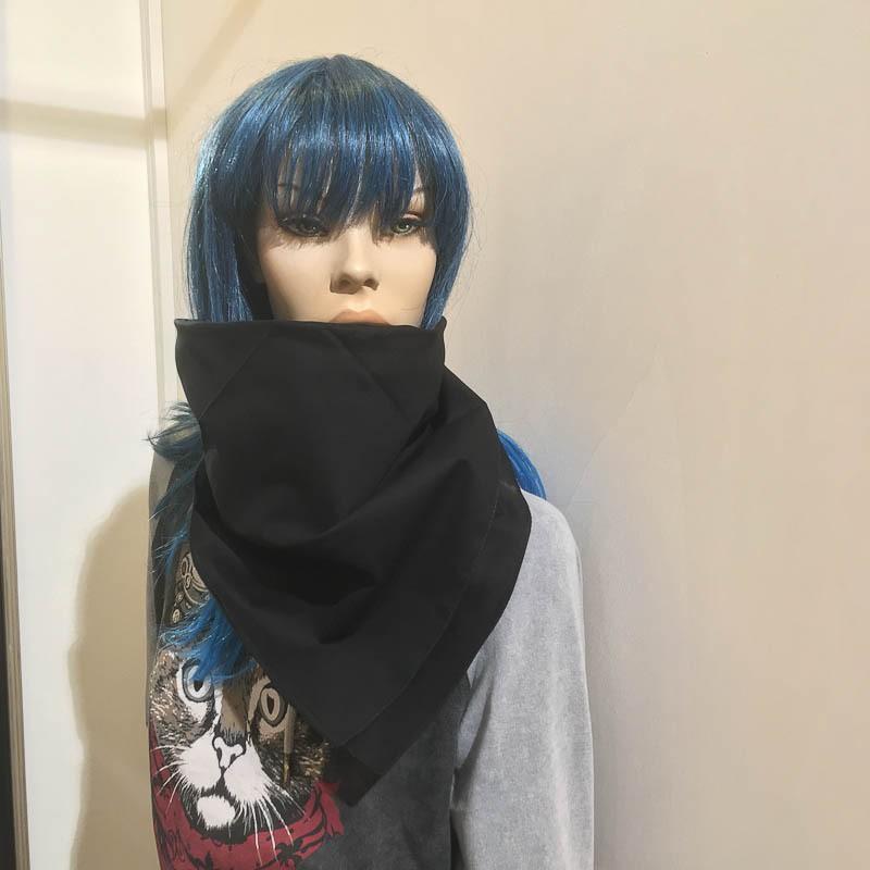 Major wear-Bandana haarband en sjaal effen zwart