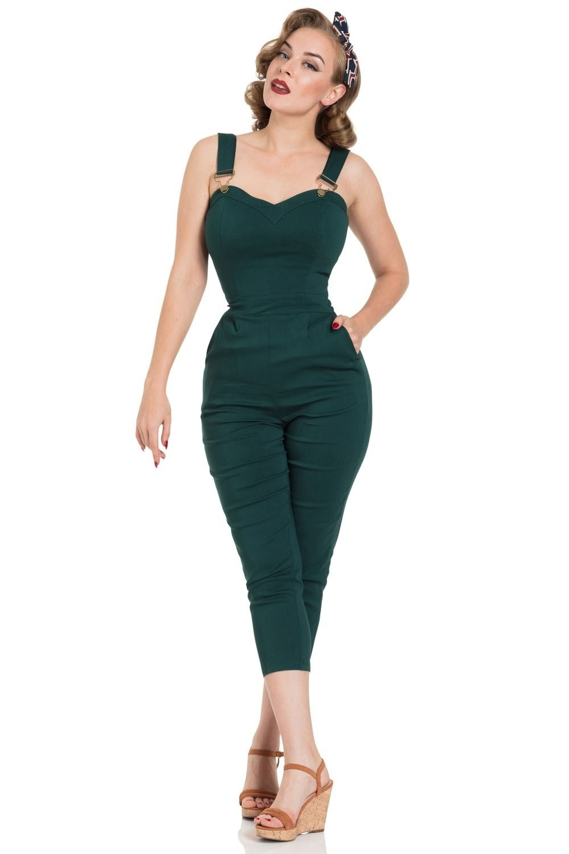 Broekpak Connie, capri model, groen