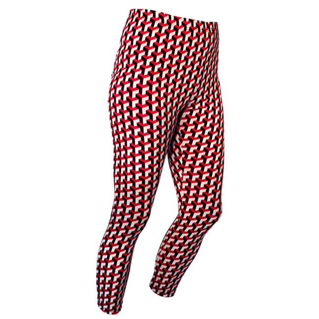 Chenaski   Legging 3d patroon Stairs zwart creme rood