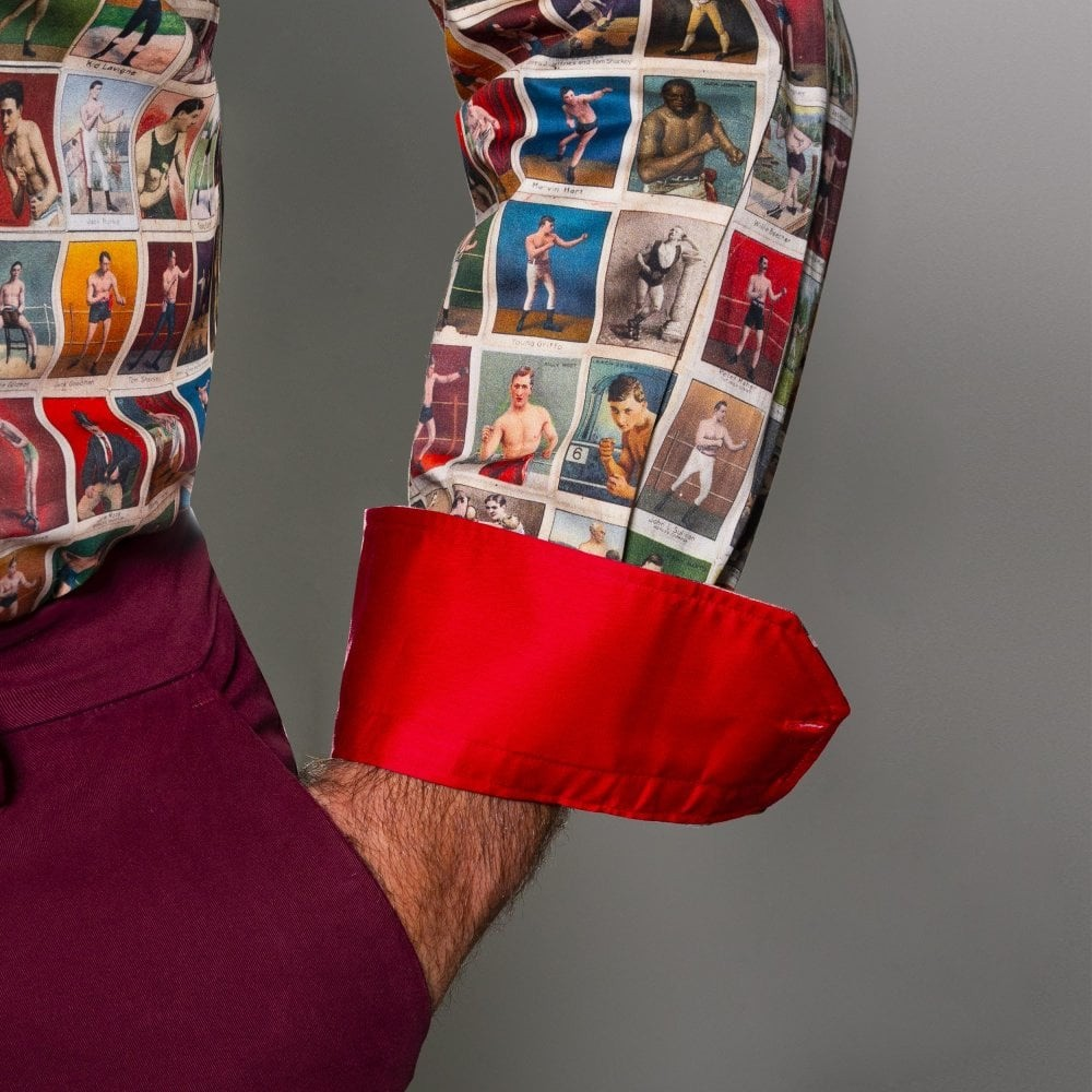 Overhemd lange mouw, boxing cards