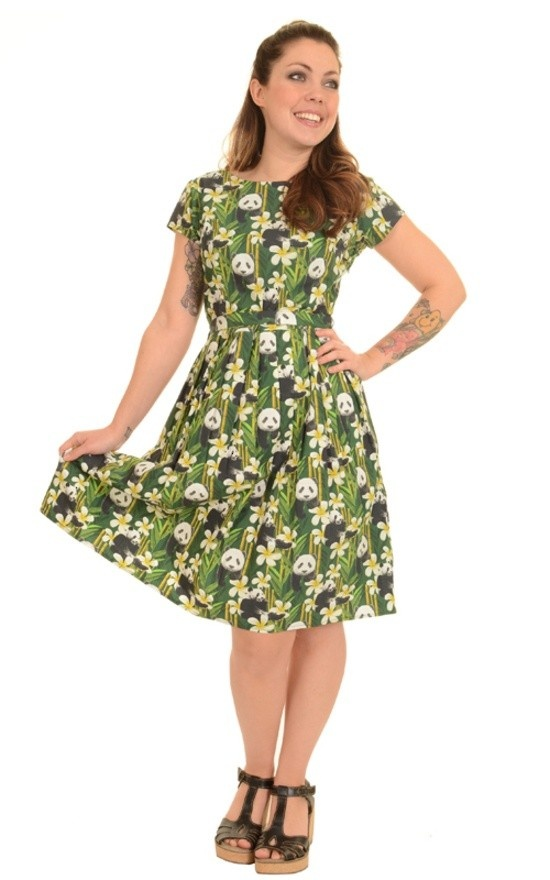 Jurk retro panda 50s 60s tea-partydress