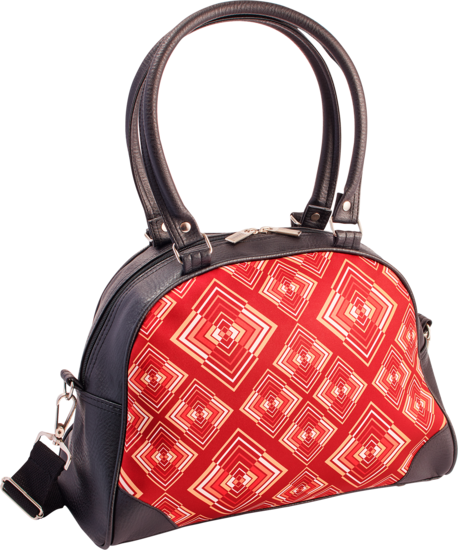 Handtas bowlingbag model, Rhombus rust