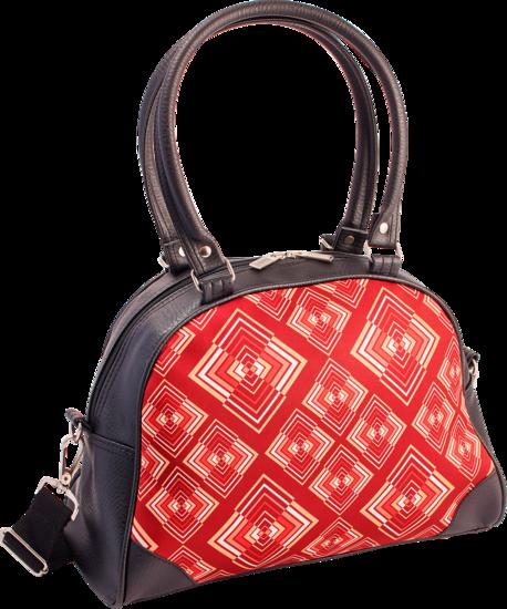 Handtas bowlingbag model, Rhombus rust