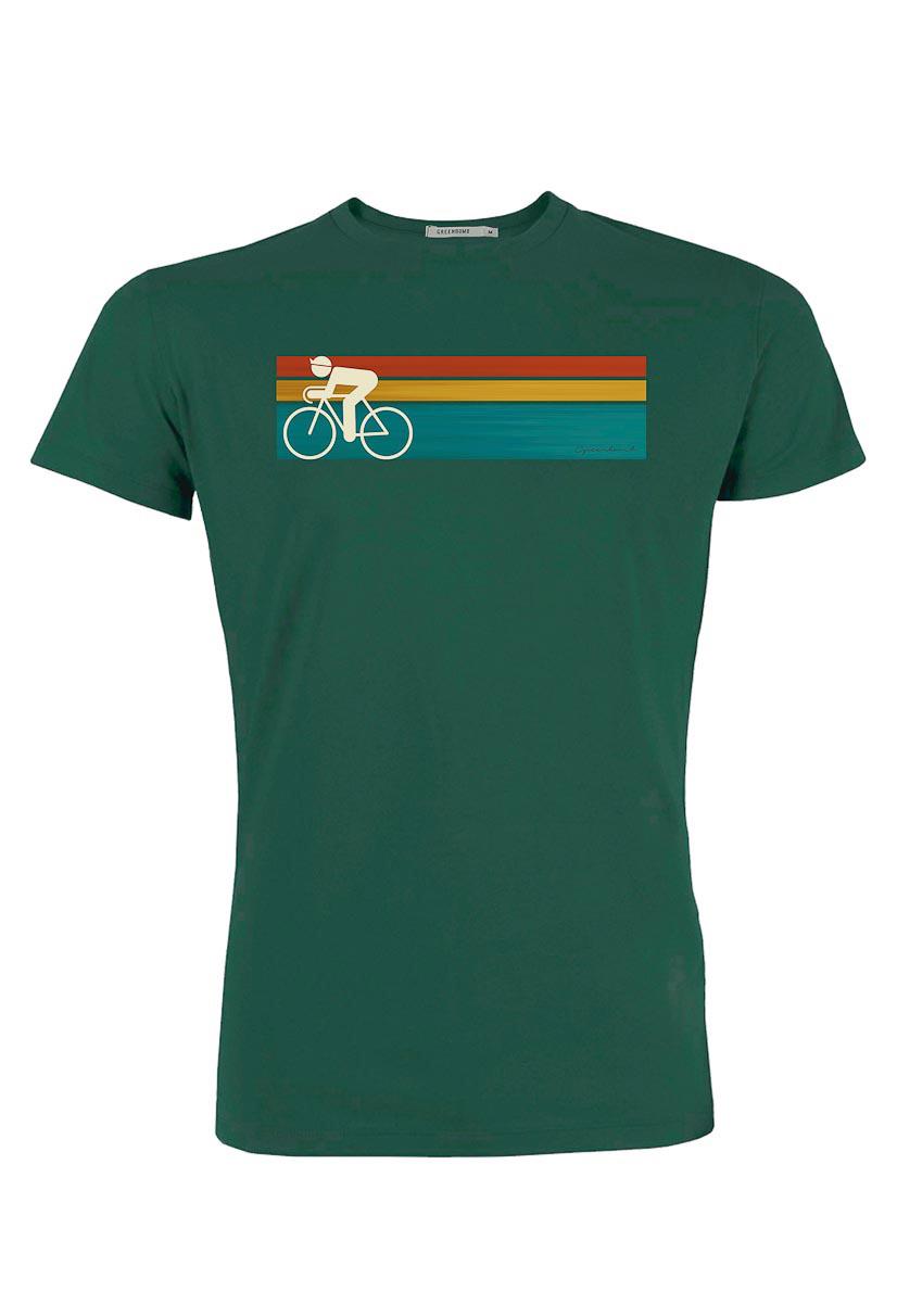 Green Bomb   T-shirt Bike speed, bio katoen, bottle green