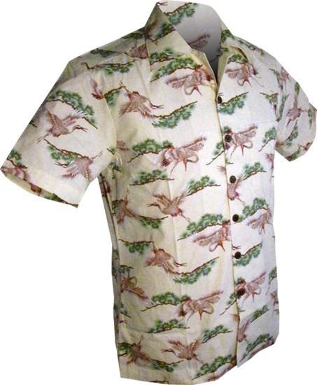 Overhemd korte mouw, Crane, crème