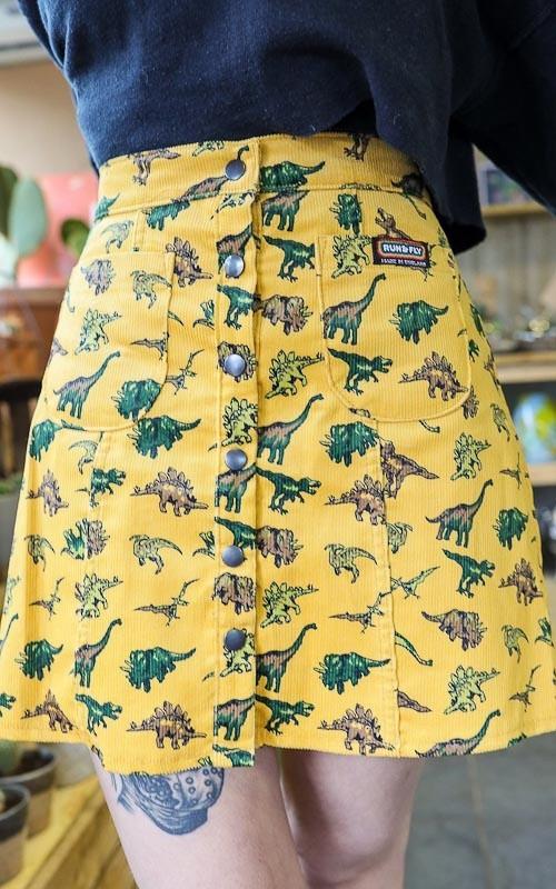 Rok Random Dinosaur, ribcord, geel