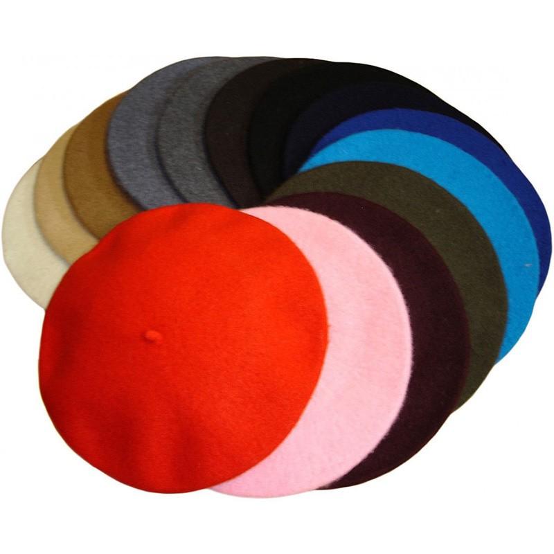 Klassieke baret van wol, rood