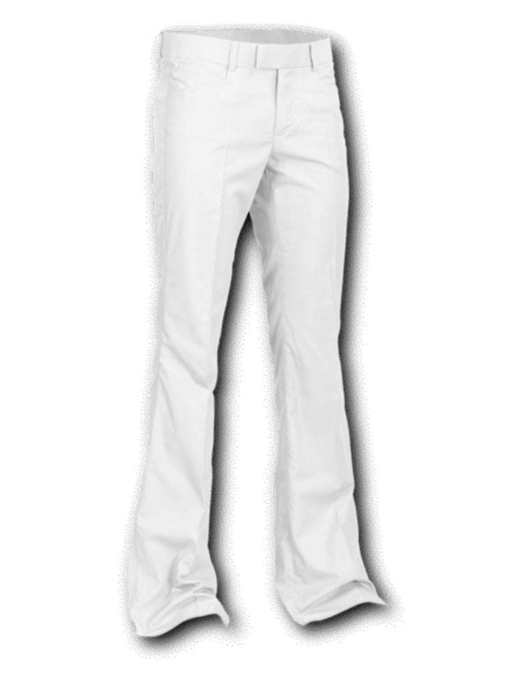 Pantalon met uitlopende pijp Wit