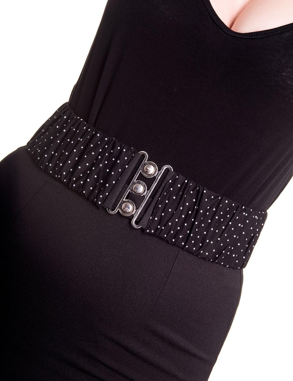 Retro Belt Dotti Black White