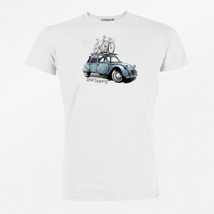 T-Shirt Bike road tripping bio katoen