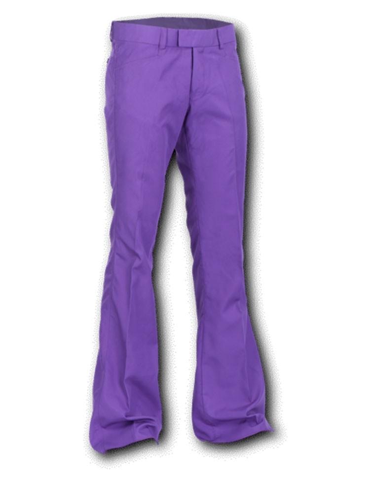 Pantalon met uitlopende pijp Paars