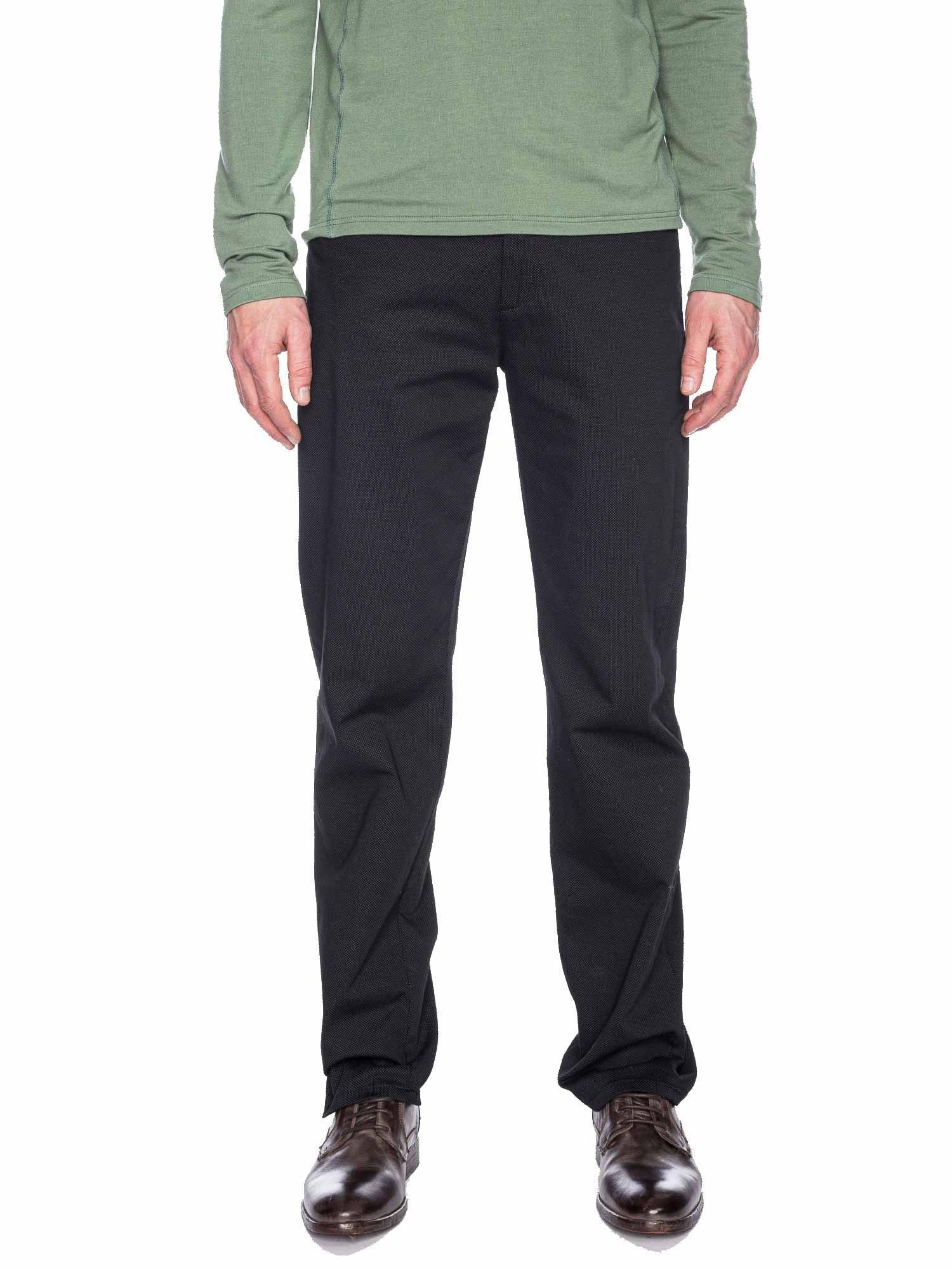 Ato Berlin - pantalon Balou zwart met fijn puntjes patroon