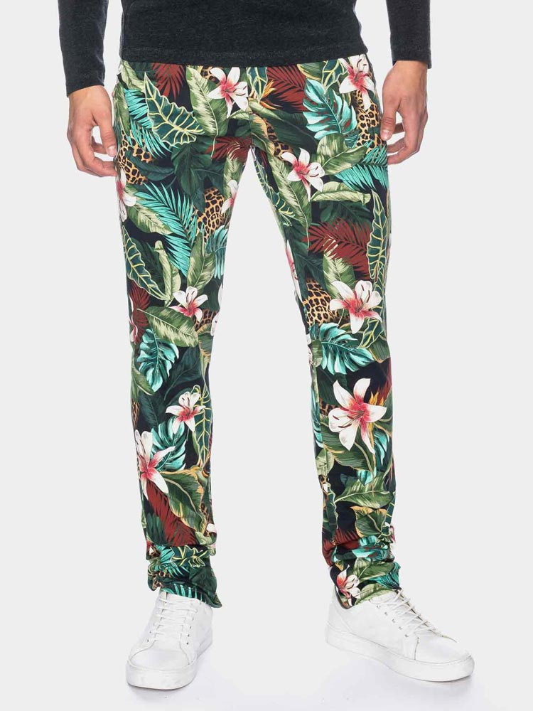Ato Berlin | pantalon Dino tropische print