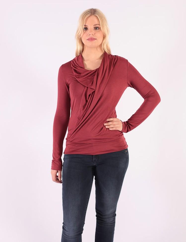 Shirt Mariola Longsleeve Bordeaux