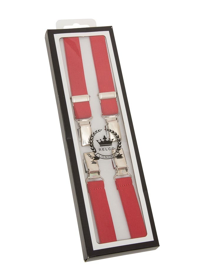 Bretels rood, breedte: 1.3 cm