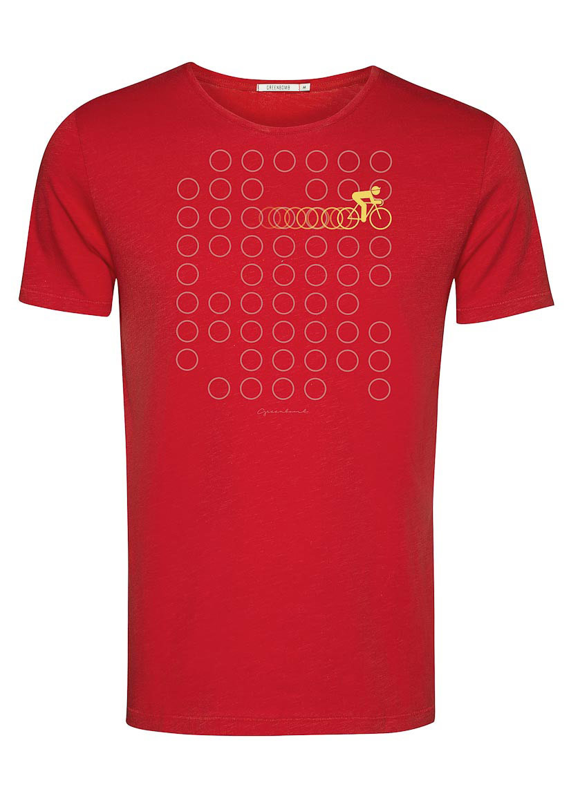 Green Bomb | T-shirt Bike Rings, tango red bio katoen